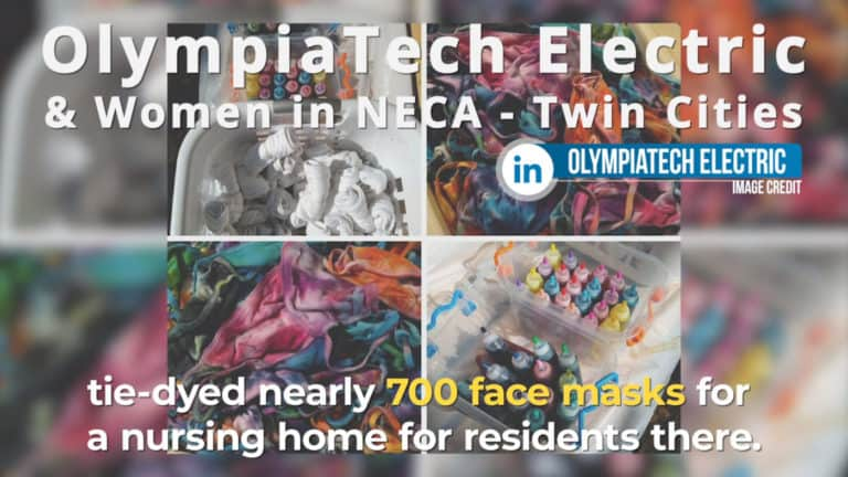 OlympiaTech and Women in NECA Twin Cities Help Nursing Home Residents